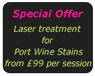 Laser treatment for port wine stains offer